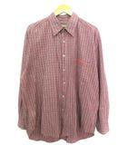 ティンバーランド Timberland ボタンダウンシャツ 長袖 チェック トップス レッド XL