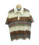 ハンテン HANG TEN HANGTEN 70's ポロシャツ マルチボーダー 刺繍ロゴ ヴィンテージ XL