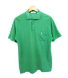 トロイブロス Troy Bros ポロシャツ 刺繍ロゴ 半袖 OLD グリーン L