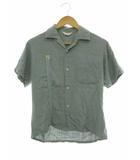 タウンクラフト TOWNCRAFT 60's 開襟シャツ 半袖 刺しゅう ヴィンテージ S