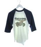 ヴィンテージ VINTAGE トライアンフ TRIUMPH 七分袖 Tシャツ バックプリント ラグラン