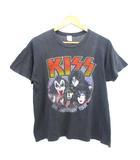 ヴィンテージ VINTAGE キッス KISS 80's ツアーTシャツ バンドTシャツ 10th ANNIVERSARY 両面プリント ブラック