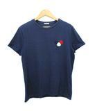 モンクレール MONCLER Tシャツ フェルト ワッペン ネイビー L 国内正規品