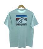 パタゴニア Patagonia ロゴ リッジ ポケット レスポンシビリティー Logo Ridge Pocket Responsibili-Tee Tシャツ 半袖 カットソー アウトドア スカイブルー S