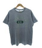 チャンピオン CHAMPION 80's トリコタグ 88/12 ワンツー フットボール 3段プリント Tシャツ USA製 ヴィンテージ 霜降りグレー XL