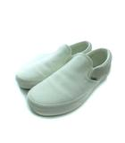 バンズ VANS スリッポン スニーカー スウェード 靴 オフホワイト 25.0cm