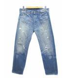 リーバイス ビンテージ クロージング LEVI'S VINTAGE CLOTHING 66501 デニムパンツ ジーンズ ダメージ加工 日本製 501XXWネーム 赤耳 ブルー W36