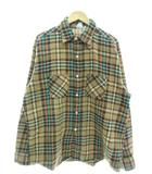 ヴィンテージ VINTAGE ビッグマック BIG MAC 70's ネルシャツ チェック 長袖 トップス ブラウン XL