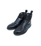 ドクターマーチン DR.MARTENS サイドジップ ブーツ ウィングチップ レザー ブラック UK8