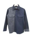 CPOシャツ ウールシャツ クレイジーパターン ATELIER CREATION CONCEPT グレー ネイビー ブラック XS