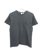 ポケット Tシャツ 半袖 カットソー 日本製 ダークグレー M