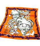 ドレスキャンプ DRESSCAMP スカーフ スクエア KAZZROCK グラフィティ シルク オレンジ
