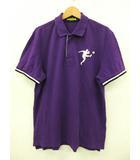 ラルフローレン ラグビー RALPH LAUREN RUGBY ポロシャツ 半袖 コットン 綿 100% パープル 紫 L