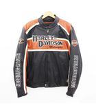 ハーレーダビッドソン HARLEY DAVIDSON ライダースジャケット シングル レザー キルトライナー プロテクター ブラック 黒 XL