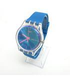 スウォッチ SWATCH 美品 腕時計 ウォッチ アナログ 3針 ブルー ピンク