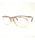 カザール CAZAL 美品 メガネ オーバル型 フルリム 度無し MOD 364 57□16 140  パープル ゴールド 紫 金