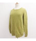 スーアンダーカバー SueUNDERCOVER ニット セーター ワンポイント シンプル ウール ライトグリーン 黄緑 1 S