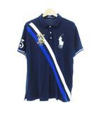 ポロ ラルフローレン POLO RALPH LAUREN 美品 ポロシャツ 半袖 ビッグポニー ネイビー 紺 LG