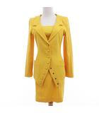 シャンタル トーマス CHANTAL THOMASS スーツ スカート ミニ ワンピース 3点セット シングル イエロー 黄色 38