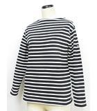 セントジェームス SAINT JAMES ウエッソン バスクシャツ カットソー ボーダー 長袖 ボートネック フランス製 黒×白 XS ◇MM-12548 ◇01