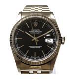 デイトジャスト 16220 P番 腕時計 ウォッチ 自動巻き ブラック文字盤 黒 SSAW