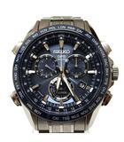 アストロン GPS ソーラー 電波時計 腕時計 ウォッチ ブルー文字盤 青 8X82-0AB0