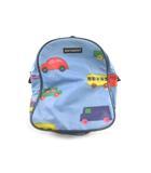 マリメッコ marimekko リュックサック デイパック バッグ 車 カー PVC ビニール ブルー 青 赤 レッド キッズ 男の子 鞄