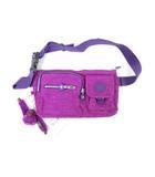キプリング KIPLING ボディバッグ ウェストバッグ ショルダー 斜め掛け 紫 パープル 鞄