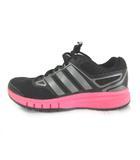 アディダス adidas Run Strong ランストロング ランニングシューズ スニーカー メッシュ 黒 ブラック ピンク US6 23cm 靴