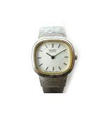 ce5262ee30 セイコー SEIKO 腕時計 ウォッチ クォーツ 電池式 2P20 スクエア シルバー アンティーク ビンテージ オールド