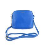 フルラ FURLA ショルダーバッグ ポシェット 斜め掛け レザー 革 ゴールドチェーン 青 ブルー 鞄 美品