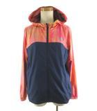 ニューバランス NEW BALANCE アクセレレイトウインドジャケット WJR7500 柄 オレンジ 紺 ネイビー アウター L ジョギング ウエア 美品