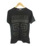 モンクレール MONCLER Tシャツ 半袖 ビッグナンバリング ロゴ プリント 黒 ブラック コットン M 国内正規品 美品