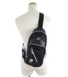 オロビアンコ OROBIANCO ボディバッグ ショルダーバッグ 斜めがけ ナイロン レザー 革 黒 ブラック 鞄 美品
