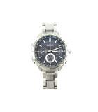 セイコー SEIKO 腕時計 ウォッチ 8B92-0AB0 電波ソーラー BRIGHTZ ブライツ SAGA193 デイト クロノグラフ 黒 ブラック シルバー 試着程度 付属品完備