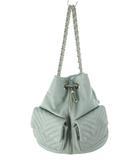 エゴイスト EGOIST リュックサック デイパック ワンショルダーバッグ 2WAY フェイクレザー チェーン ミントグリーン 薄緑系 鞄 美品