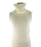 スナイデル snidel ノースリーブ ニット セーター タートルネック ウール モヘヤ オフホワイト 白 F 美品