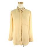 ラグナムーン LagunaMoon 長袖 シャツ ブラウス 装飾 ラインストーン スタッズ ビーズ オレンジ F 美品