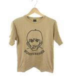 ナンバーナイン NUMBER (N)INE Tシャツ 半袖  NOWHEREMAN 人物 プリント ベージュ コットン 2 クークス