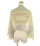 エトロ ETRO ストール カシミール紋様 ペイズリー柄 135cm×40cm ウール シルク グレー ブラウン 黄色 イエロー 小物 美品