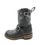 ヨースケ YOSUKE エンジニアブーツ ショート 28076 レザー 黒 ブラック 23cm 靴