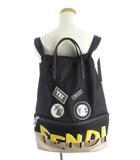 フェンディ FENDI バックパック リュックサック デイパック トートバッグ 巾着 2WAY ボキャブラリー 7vz034 ロゴ 黒 ブラック 鞄
