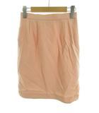 フォクシーブティック  FOXEY BOUTIQUE ひざ丈 スカート タイト ポケットあり レース 刺繍 レース ピンク ウール シルク 40