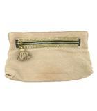 クロエ CHLOE クラッチバッグ 装飾 スタッズ ビーズ タッセル レザー 革 ベージュ 鞄 パーティー