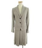 ジェイプレス J.PRESS セットアップ スーツ 上下 テーラードジャケット 2B 総裏 スカート 膝丈 フレアー グレー 9号 美品