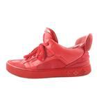 ルイヴィトン LOUIS VUITTON KANYE WEST カニエウエスト スニーカー シューズ ドンズ コラボ ロゴ レザー 赤 レッド 8 1/2 約27.5cm 靴 希少 レア