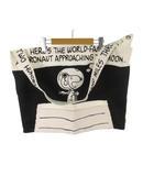 ミスターハリウッド N.HOOLYWOOD ショルダーバッグ 斜めがけ ショッピングバッグ スヌーピー 生誕60周年記念 キャンバス 白 ホワイト 黒 ブラック 鞄 希少 レア
