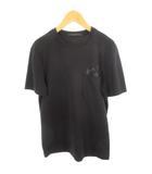 ルイヴィトン LOUIS VUITTON Tシャツ 半袖 ポケット ポケT モノグラム 黒 ブラック XXS 国内正規品 美品