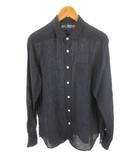 無印良品 良品計画 シャツ 長袖 麻 リネン 紺 ネイビー L トップス 美品