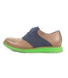 コールハーン COLE HAAN LUNARGRAND SADDLE ルナグランド サドル ドレスシューズ スニーカー ウイングチップ スエード レザー 紺 ネイビー茶 ブラウン 緑 グリーン 9M 靴